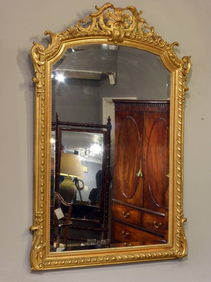 Antique Gilt Mirror, French Antique Mirror, Antique Gold Mirror For Antique Gold Mirrors French (View 4 of 20)