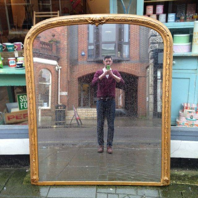 Antique Gilt Overmantle Mirror – The Consortium, Vintage Furniture With Regard To Vintage Overmantle Mirrors (#3 of 20)