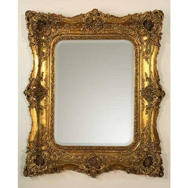 Antique Gold Double Ornate Framed Mirror – Catering Equipment Hire Pertaining To Ornate Antique Mirrors (#7 of 15)