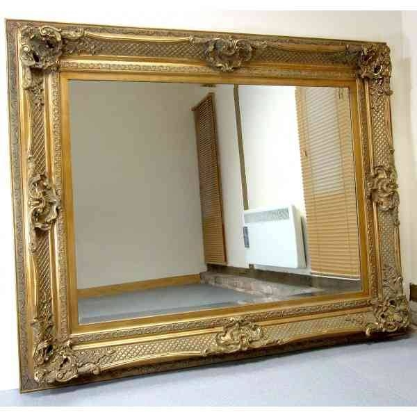 Antique Gold Framed Wall Mirrors – With Large Antique Wall Mirrors (#5 of 20)