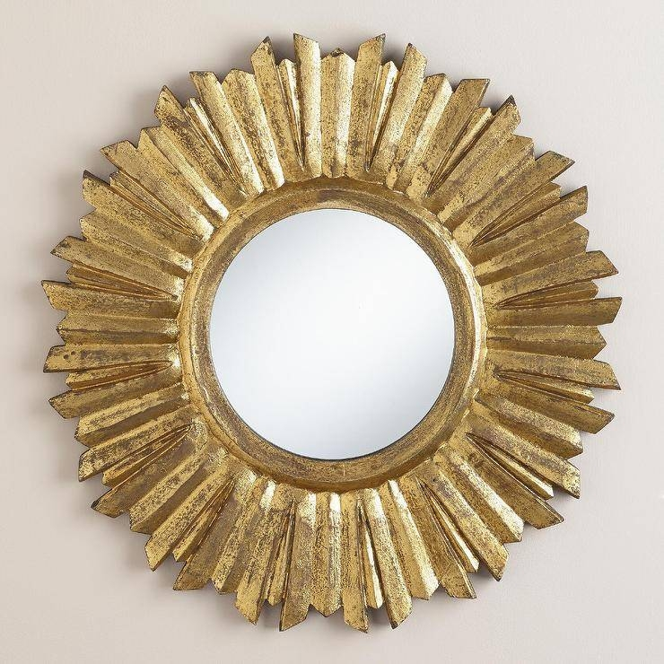 Antique Gold Leila Sunburst Mirror With Small Gold Mirrors (View 11 of 20)