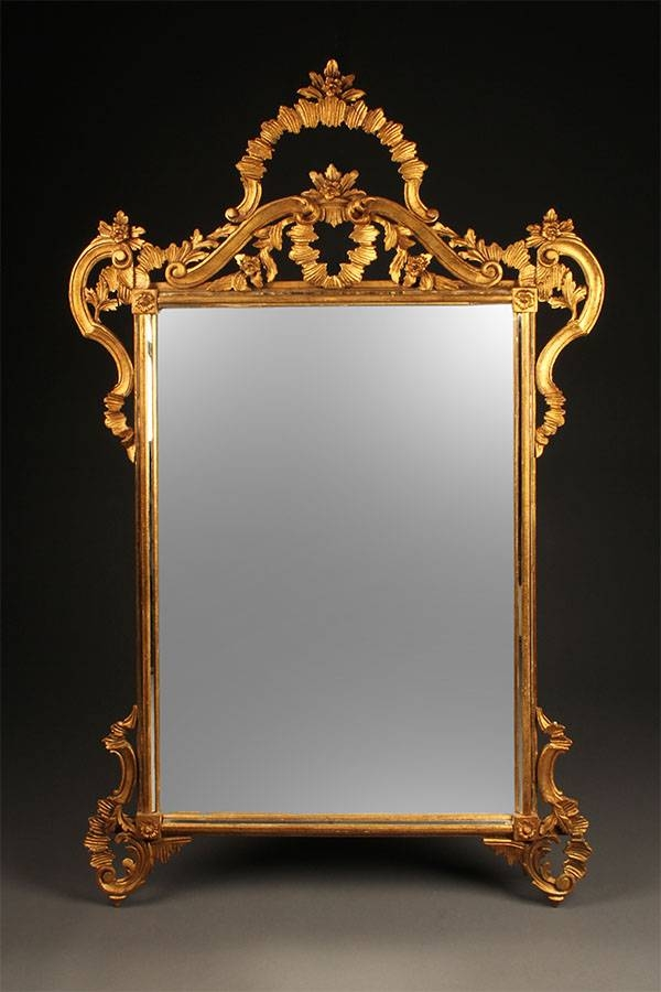 Antique Hand Carved Italian Mirror (View 2 of 20)
