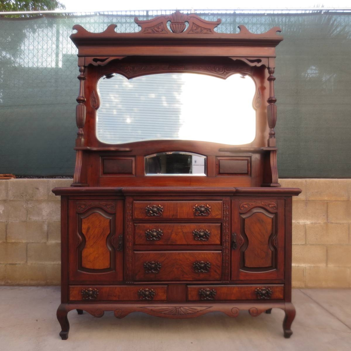 Antique Hutches, Antique Credenzas, Antique Furniture, Antique With Regard To Sideboard With Hutch (#3 of 20)