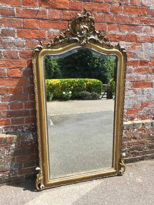 Antique Large Silver Mirror, Silver Wall Mirror, Silver Framed In Large Silver Gilt Mirrors (#8 of 30)