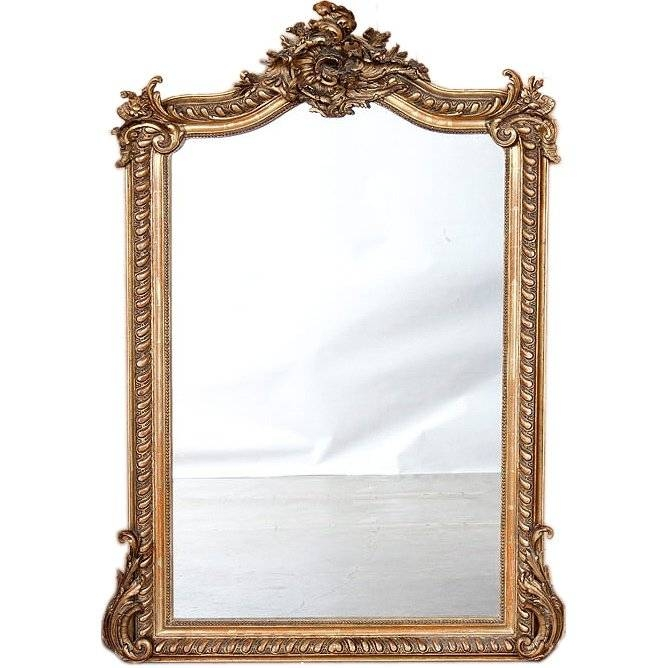 Antique Louis Xv Gilded Mirror At 1Stdibs Pertaining To Antique Gilded Mirrors (View 7 of 20)