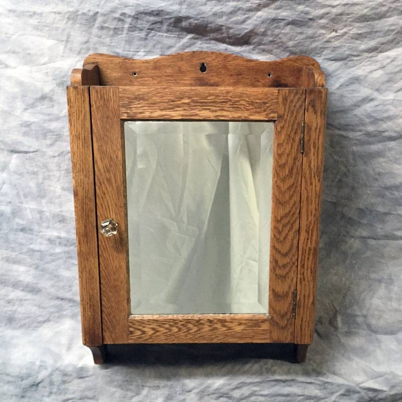 Antique Medicine Cabinets Intended For Antique Oak Mirrors (#6 of 20)