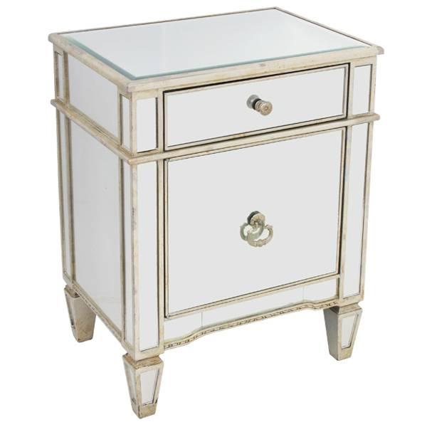 Antique Mirror Bedside Cabinet |Bedside Cabinet |Furniture Warehouse Regarding Bedside Tables Antique Mirrors (#5 of 20)