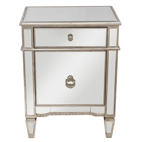 Antique Mirror Bedside Cabinet |bedside Cabinet |furniture Warehouse Throughout Bedside Tables Antique Mirrors (View 9 of 20)