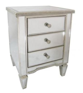 Antique Mirror Furniture Blog – Vavoom Emporium Throughout Bedside Tables Antique Mirrors (#7 of 20)
