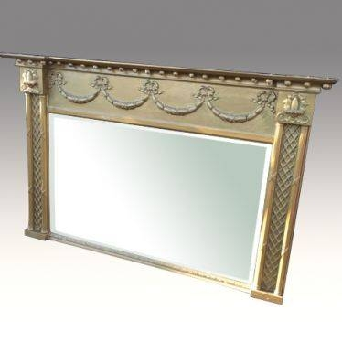 Antique Mirrors – Antiques Northern Ireland (Ni) Inside Wooden Overmantle Mirrors (#9 of 30)