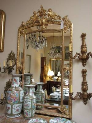 Antique Mirrors & Frames Throughout French Antique Mirrors (View 11 of 30)