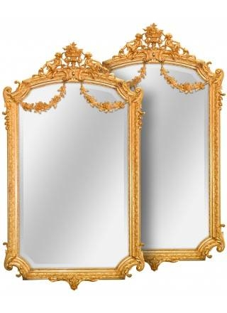 Antique Mirrors, French Mirrors And Antique Giltwood Mirror Inside Gold French Mirrors (#14 of 30)
