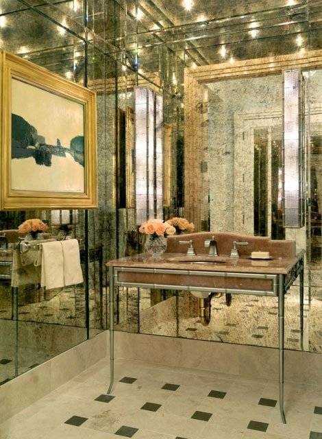 Antique Mirrors | Residential Gallery | Anchor Ventana Glass With Antique Round Mirrors For Walls (#7 of 20)