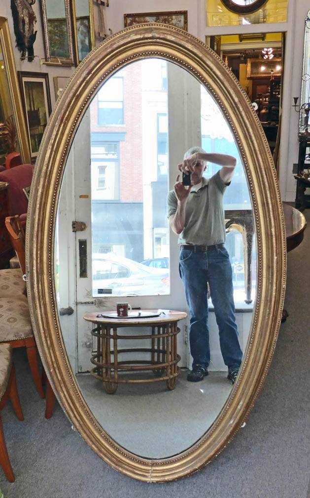 Antique Mirrors | Theron Ware Hudson Intended For Large Oval Mirrors (#3 of 20)