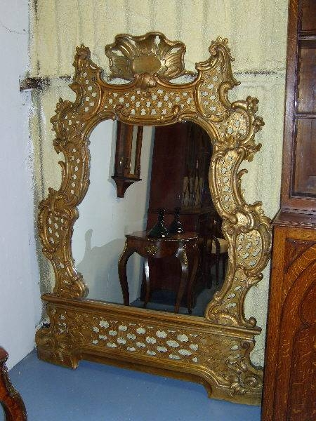 Antique Mirrors Uk Antique Gilt Mirrors – Antique French Mirrors In Large Rococo Mirrors (View 14 of 30)