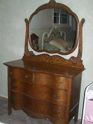 Antique Oak Dresser With Mirror ~ Bestdressers 2017 Intended For Antique Oak Mirrors (#8 of 20)