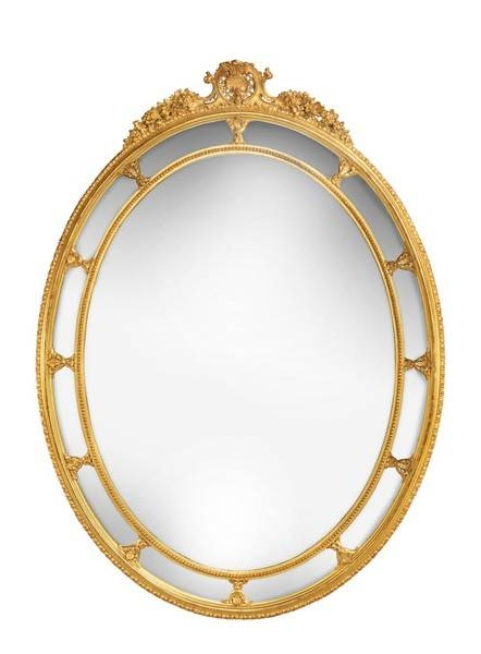 Antique Oval Mirrors – The Uk's Premier Antiques Portal – Online Intended For Large Oval Mirrors (#6 of 20)