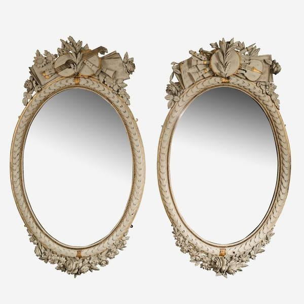 Antique Oval Mirrors – The Uk's Premier Antiques Portal – Online With Regard To French Oval Mirrors (#12 of 30)