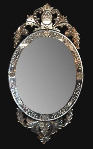 Antique Oval Venetian Mirror – Latique Antiques Within Venetian Oval Mirrors (View 8 of 15)