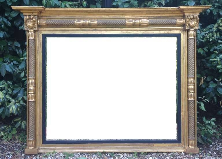 Antique Overmantle Mirror At 1Stdibs Pertaining To Antique Overmantle Mirrors (#7 of 20)
