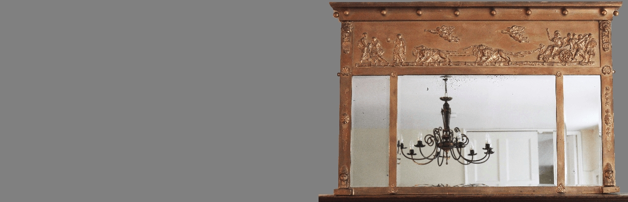 Antique Overmantle Mirrors For Sale | Loveantiques With Regard To Over Mantle Mirrors (#4 of 30)