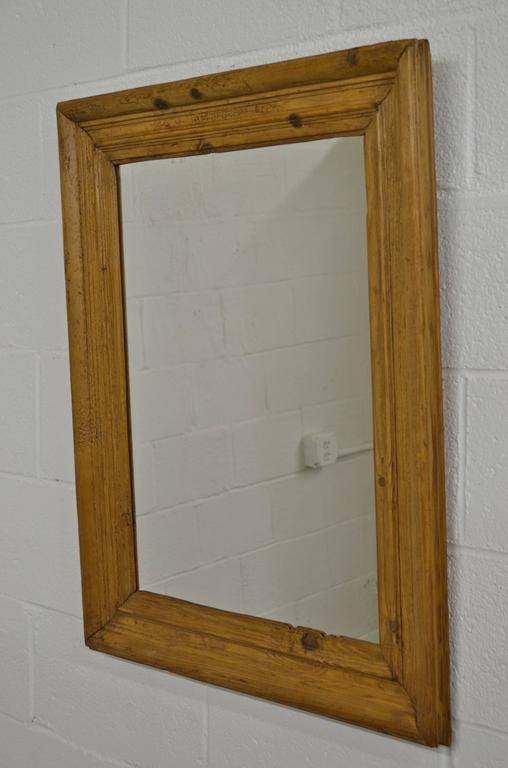 Antique Pine Mirror Frame At 1Stdibs With Regard To Wooden Overmantle Mirrors (#11 of 30)