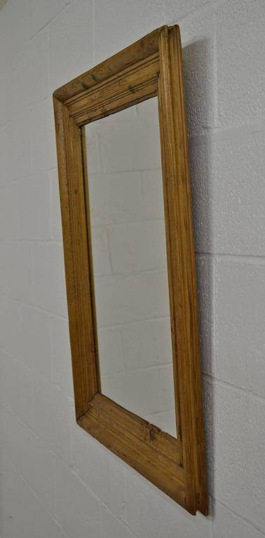 Antique Pine Mirror Frame At 1Stdibs With Regard To Wooden Overmantle Mirrors (#10 of 30)