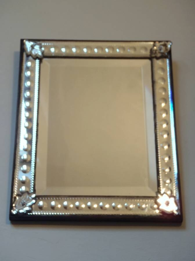 Antique Rectangular Venetian Mirror With Bubble Design Frame In For Venetian Bubble Mirrors (#15 of 30)