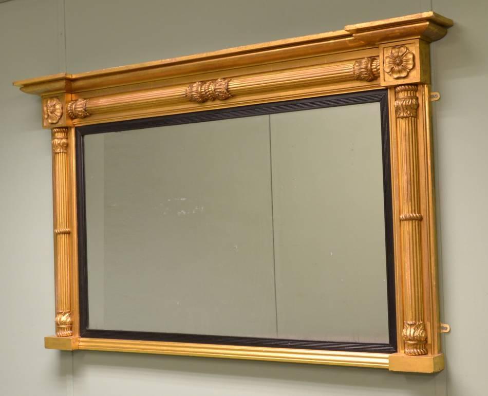 Antique Regency Decorative Gilt Overmantle Mirror (View 16 of 20)