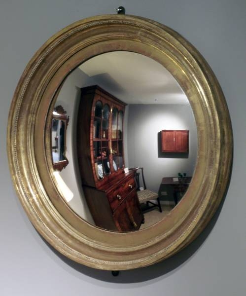 Antique Regency Gilt Convex Mirror, Antique Round Mirror, Antique With Regard To Round Convex Wall Mirrors (#9 of 30)