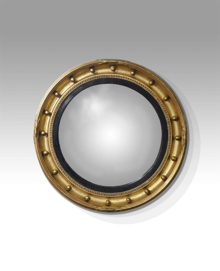 Antique Round Mirror, Convex Mirror, Butlers Mirror, Port Hole Inside Round Antique Mirrors (View 24 of 30)
