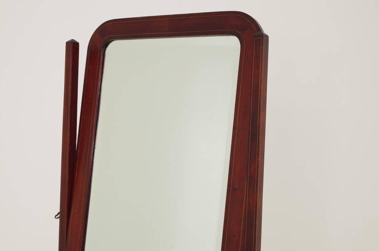 Antique Scottish Mahogany Inlaid Cheval Dressing Full Length With Full Length Antique Mirrors (#9 of 30)