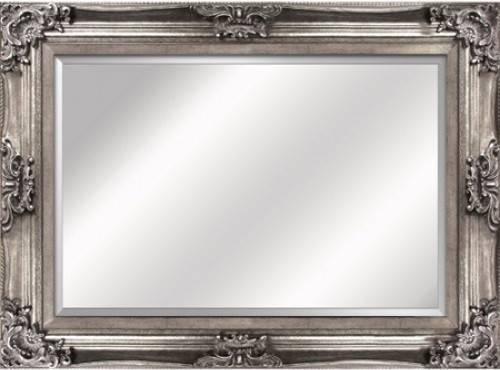 Antique Silver Framed Mirror – Traditional – Wall Mirrors – For Silver Antique Mirrors (#6 of 20)
