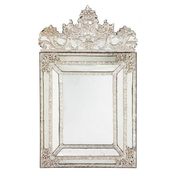 Antique Silver Mirrors – The Uk's Premier Antiques Portal – Online Within Large Silver Vintage Mirrors (#10 of 30)