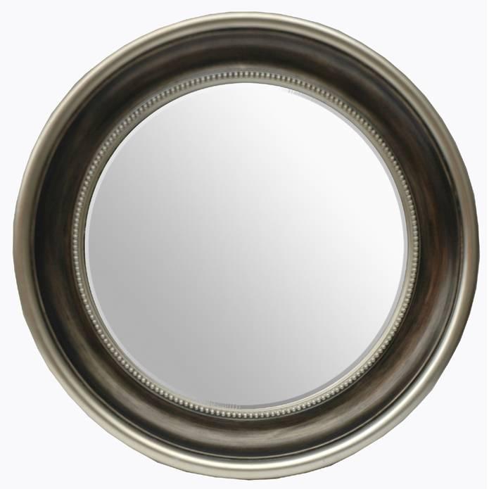 Antique Silver Round Mirror 105Cm – Mirrors (#7 of 30)