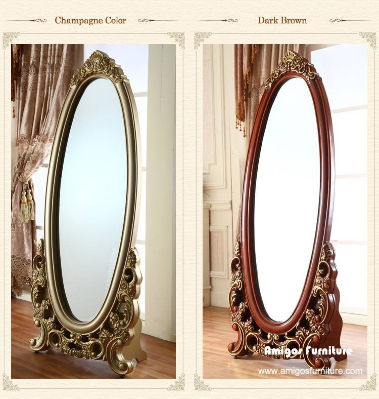 Antique Solid Wooden Dressing Room Mirror,antique Standing Inside Vintage Standing Mirrors (View 2 of 30)
