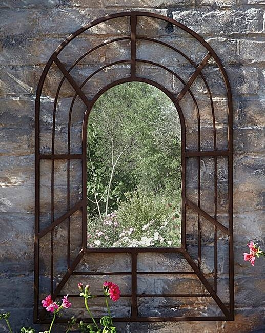Antique Style Garden Mirror   House Of Bath With Regard To Metal Garden Mirrors (#11 of 30)