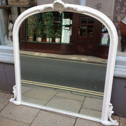 Antique Style Overmantle Mirror – The Consortium, Vintage Furniture Inside Vintage Overmantle Mirrors (#5 of 20)