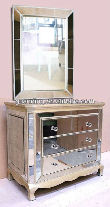 Antique Style Venetian Mirrored 4 Drawer Chest – Buy Butterfly With Venetian Mirrored Chest Of Drawers (#4 of 20)