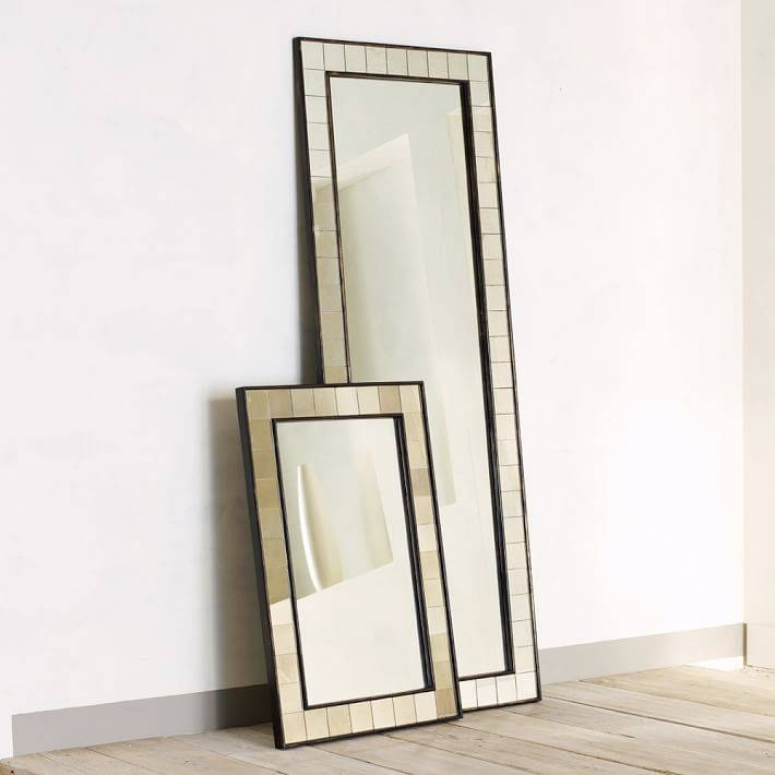Antique Tiled Floor Mirror | West Elm Within Antique Floor Length Mirrors (#3 of 20)