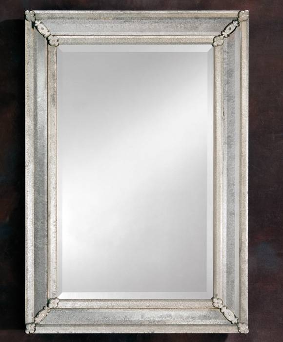 Antique Venetian Mirror In Bevelled Glass Mirrors (#3 of 20)