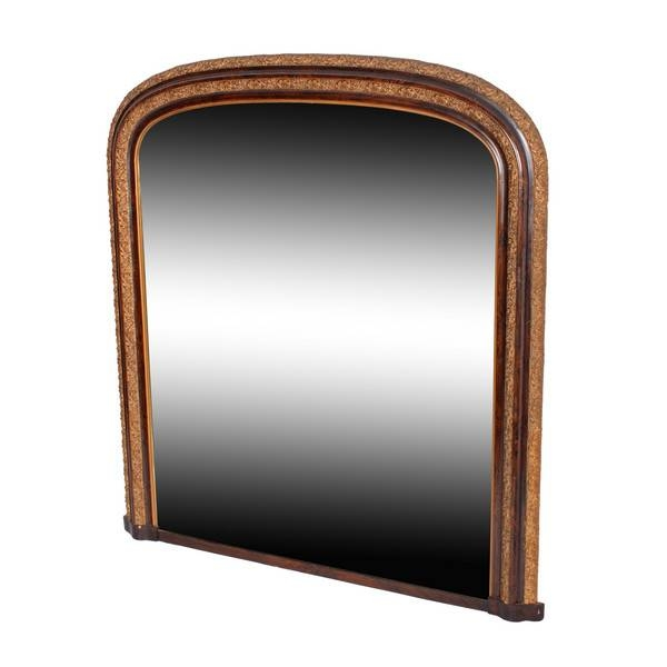 Antique Wall Mirrors – The Uk's Premier Antiques Portal – Online With Wooden Overmantle Mirrors (#12 of 30)