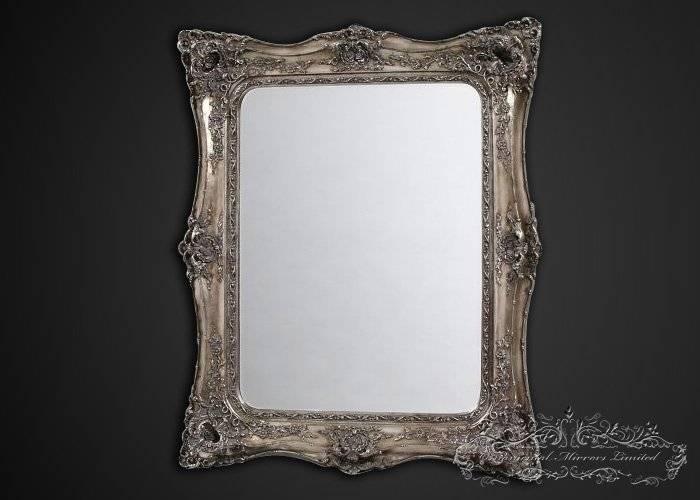 Antique White Floor Mirror Throughout White Rococo Mirrors (#3 of 20)