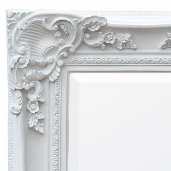 Antique White Floor Standing Mirror – Chic Seasons Throughout White Antique Mirrors (#1 of 20)