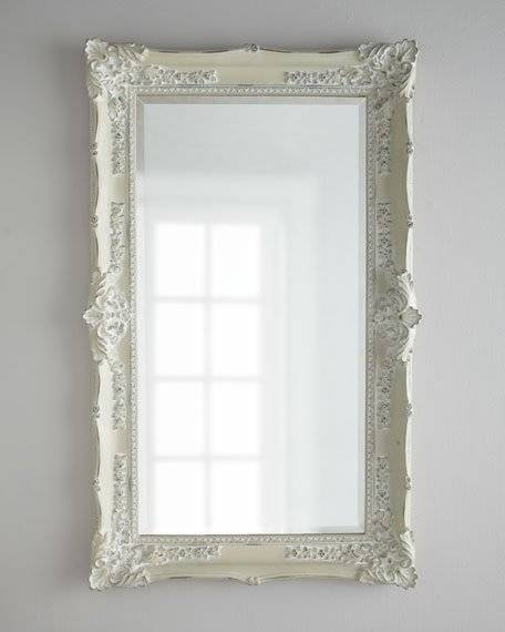 "Antique White"" Mirror With Regard To Antique White Oval Mirrors (View 17 of 20)"