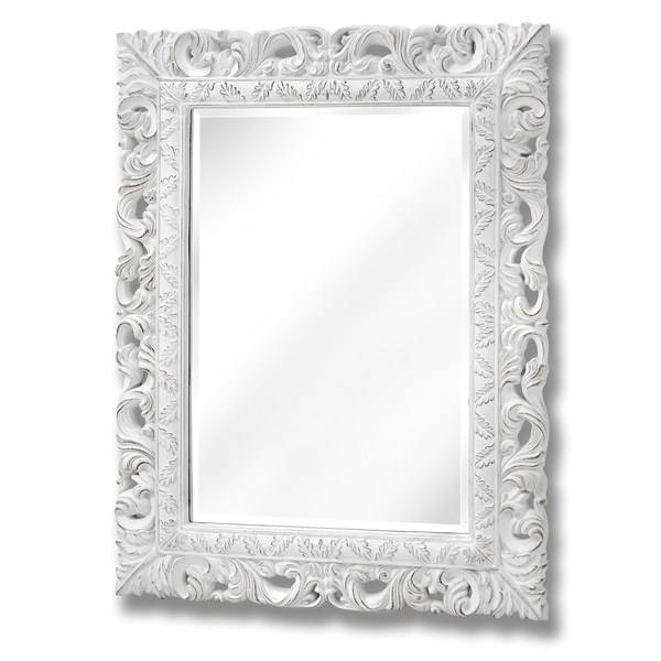 Antique White Ornate Leaf Wall Mirror | From Baytree Interiors With White Ornate Mirrors (#3 of 20)