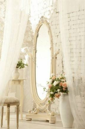 Inspiration about Antique White Oval Mirror – Foter For Cream Free Standing Mirrors (#17 of 20)