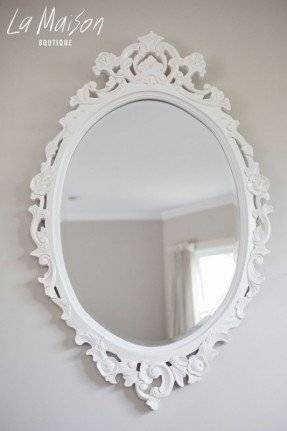 Antique White Oval Mirror – Foter With Boutique Mirrors (View 6 of 30)