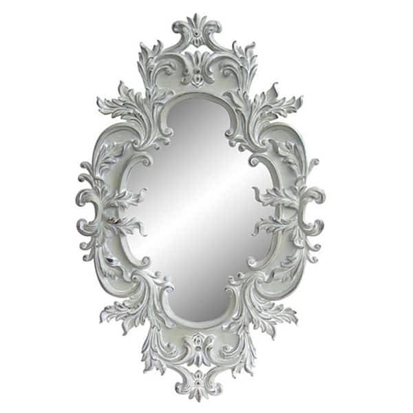 Antique White Traditional Oval 60 Inch Wall Mirror – Free Shipping With Regard To Antique White Oval Mirrors (View 19 of 20)