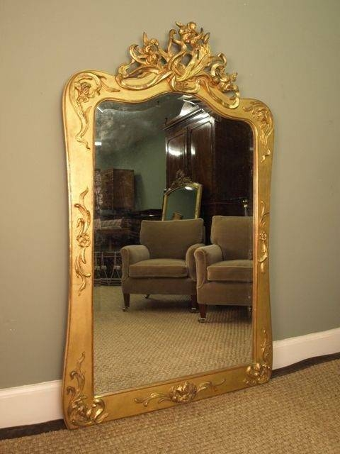Antiques Atlas – A Giltwood Art Nouveau Wall Mirror For Art Nouveau Wall Mirrors (#2 of 20)